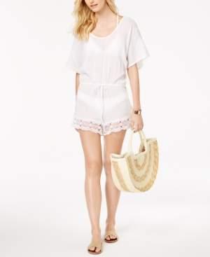 La Blanca Crochet-Trim Romper Cover-Up Women's Swimsuit