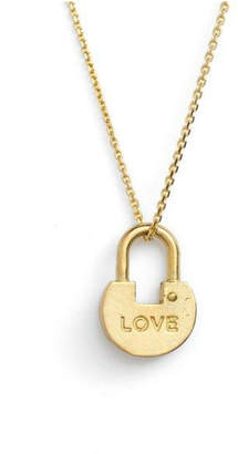 The Giving Keys Dainty Lock Necklace
