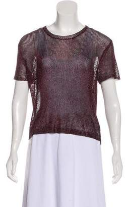 Opening Ceremony Mesh Short Sleeve Top