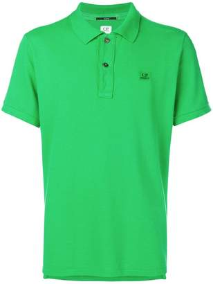 C.P. Company logo embroidered polo shirt