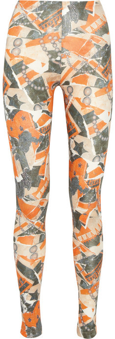 McQ Alexander McQueen Printed stretch-jersey leggings
