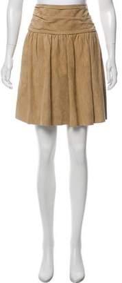 Hermes Suede Knee-Length Skirt