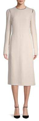 Lanvin Long-Sleeve Midi Dress