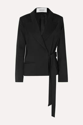 ARIAS - Stretch-canvas Wrap Blazer - Black
