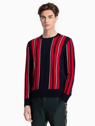 Calvin Klein vertical stripe sweater