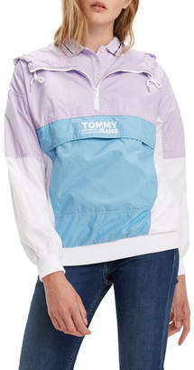 Tommy Jeans Retro Colour-Blocked Popover Jacket