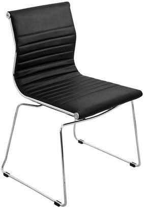 Asstd National Brand Master Faux-Leather Stackable Side Chairs - Set of2