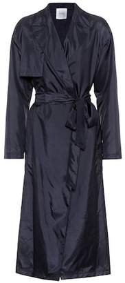 Agnona Silk trench coat
