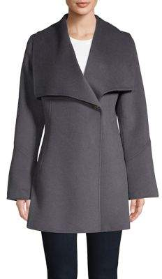 Laundry by Shelli Segal Wing-Collar Walker Coat