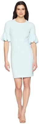 Donna Morgan Crepe Sheath Dress with Lantern Sleeve Women's Dress
