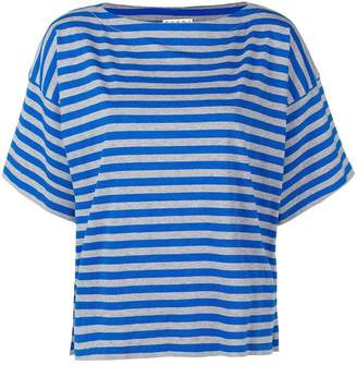 Marni striped slash neck tee