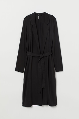 H&M Coat with a tie belt