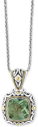 """Effy Balissima by Prasiolite 18"""" Pendant Necklace (5-9/10 ct. t.w.) in Sterling Silver & 18k Gold"""