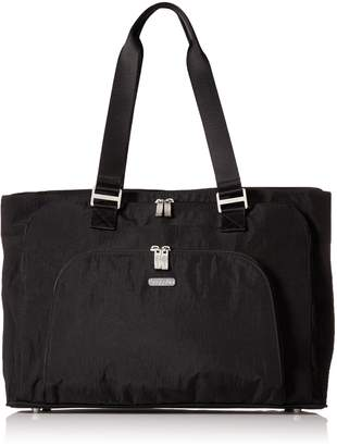 Baggallini Errand Travel Tote Bag, Black/Sand