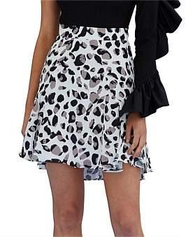 By Johnny Latte Leopard Swing Mini Skirt