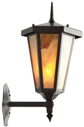 Rejuvenation Large Mission Entry Lantern w/ Caramel Art Glass
