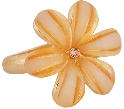 Forever 21 Glittered Flower Ring