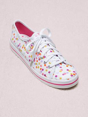 Kate Spade Keds X Kickstart Confetti Print Sneakers, Pink - Size 5