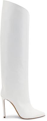 Alexandre Vauthier Alex Patent Boot in White | FWRD