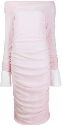 ANAÏS JOURDEN stretched off-shoulder dress