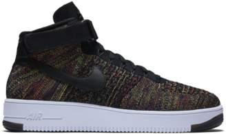 Nike Force 1 Mid Flyknit Multi-Color Black