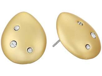 Cole Haan Teardrop Stud with Embedded Crystal Stones Earrings