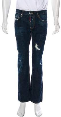 DSQUARED2 Distressed Splatter Print Jeans