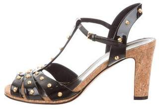 Gucci Spike-Embellished Ankle Strap Sandals