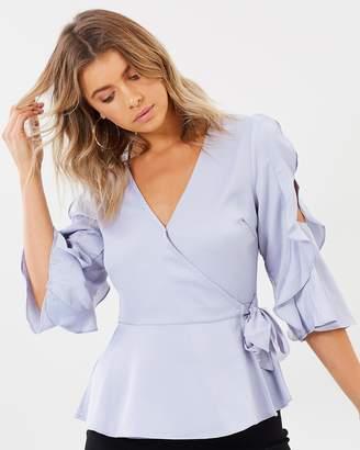 Rebecca Ruffle Sleeve Top