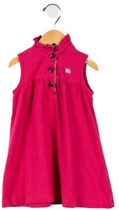 Burberry Girls' Ruffle-Trimmed Sleeveless Dress