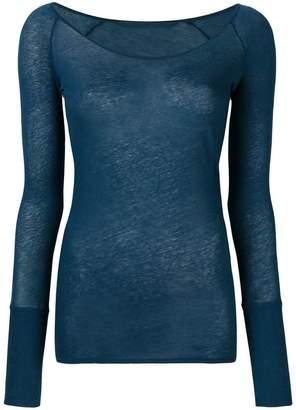 Humanoid scoop neck long sleeve top