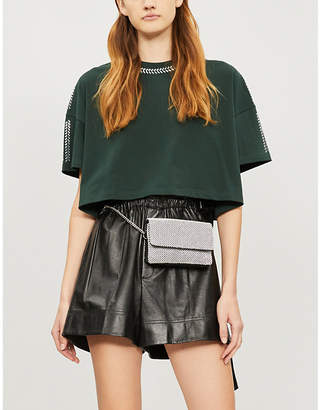 The Kooples Embellished cotton-jersey T-shirt