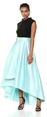 Ignite Women's Bead Neck Hi-lo Mikado Ballgown