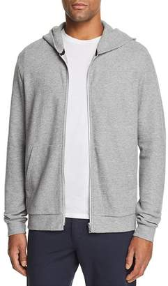 Theory Essential Zip-Front Waffle-Knit Hoodie