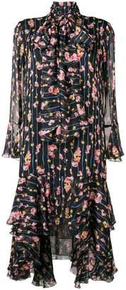 Blumarine floral print flared dress