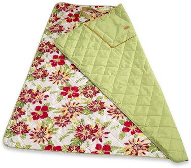 Indoor/Outdoor All Weather Travel Blanket - Green/Sunset Stripe