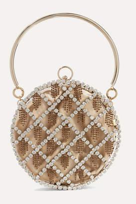 Rosantica Gauthier Crystal-embellished Gold-tone And Velvet Tote