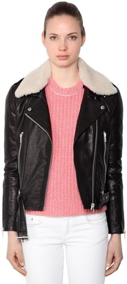 Rag & Bone Rag&bone Mckenzie Leather Jacket W/ Collar
