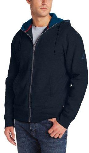 Nautica Men's Full Zip Fleece Hoodie