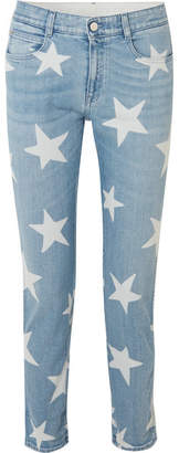 Stella McCartney Printed Boyfriend Jeans - Light denim
