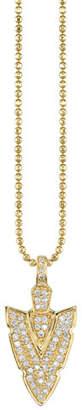 Sydney Evan 14k Diamond Arrowhead Charm Necklace