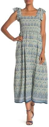 Max Studio Sleeveless Smocked Bodice Maxi Dress