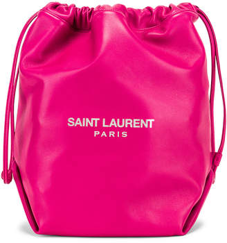 e0293eb06f41 Saint Laurent Supple Logo Teddy Pouch in Rose Freesia