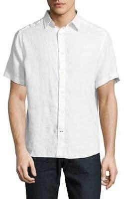 Nautica Short-Sleeve Linen Sport Shirt
