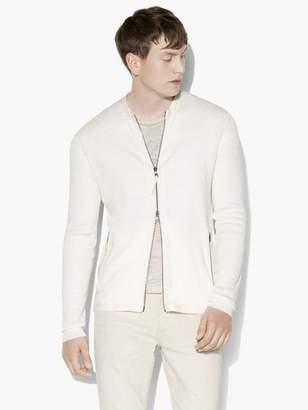 John Varvatos Zip-Up Sweater
