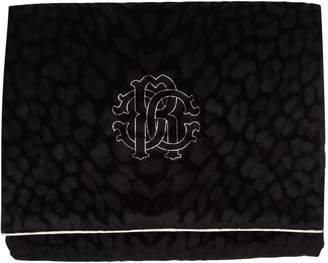 Roberto Cavalli Monogram Cotton Velvet Throw