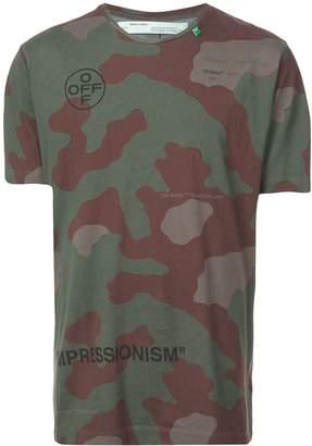 Off-White camouflage logo print T-shirt