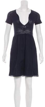 Theory Short Sleeve Cotton Dress