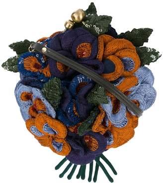 Jamin Puech 3D sequinned floral shoulder bag