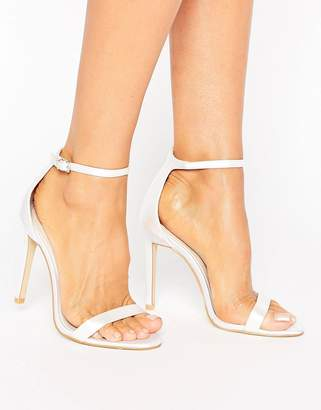 boohoo Bridal Barely There Heeled Sandal